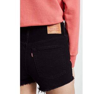Levi's 501 Black High Rise cut off shorts Sz 28